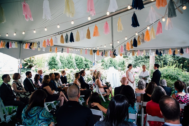 We're crushing on this stunning and intimate backyard wedding!