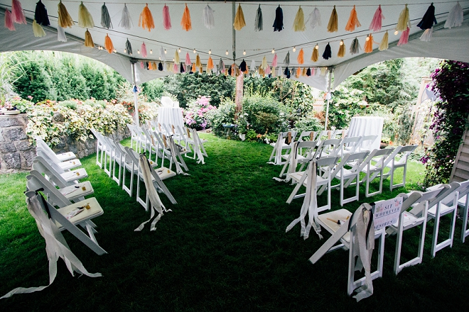 We're in LOVE with this stunning and intimate backyard ceremony!