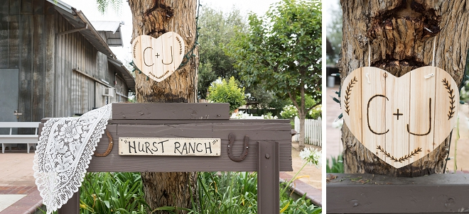 We love all of the rustic touches at this stunning fall wedding!