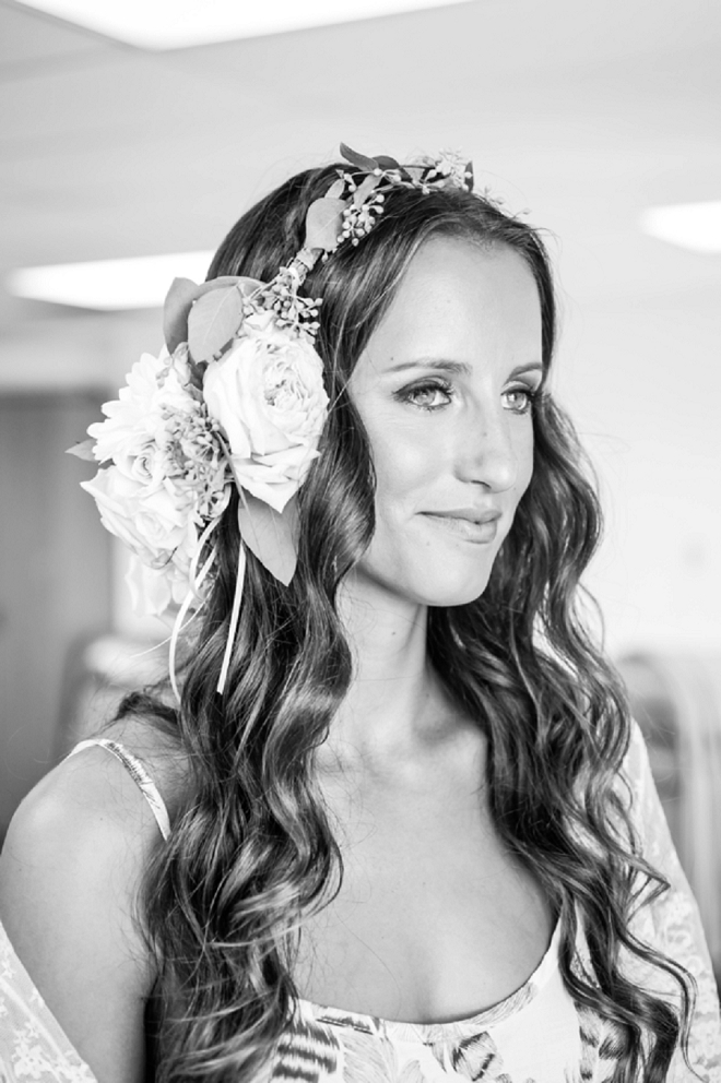 We're in LOVE with this Bride's stunning boho style and flower crown!