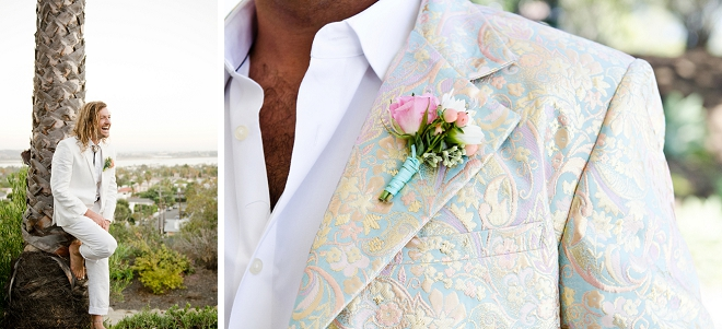 Crushing on these stunning handmade boutonnieres made by the Bride!
