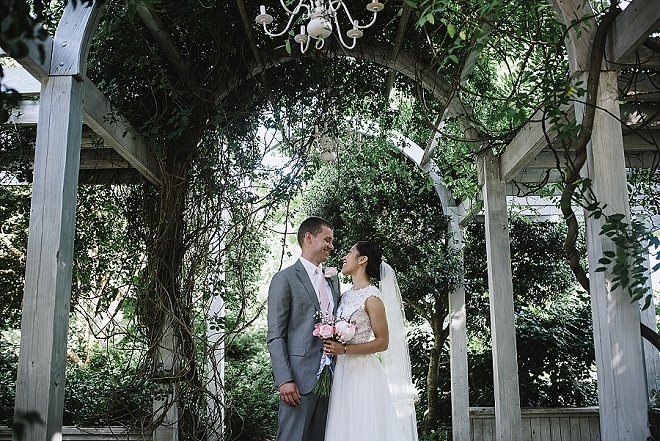 We're swooning over this super romantic garden wedding!