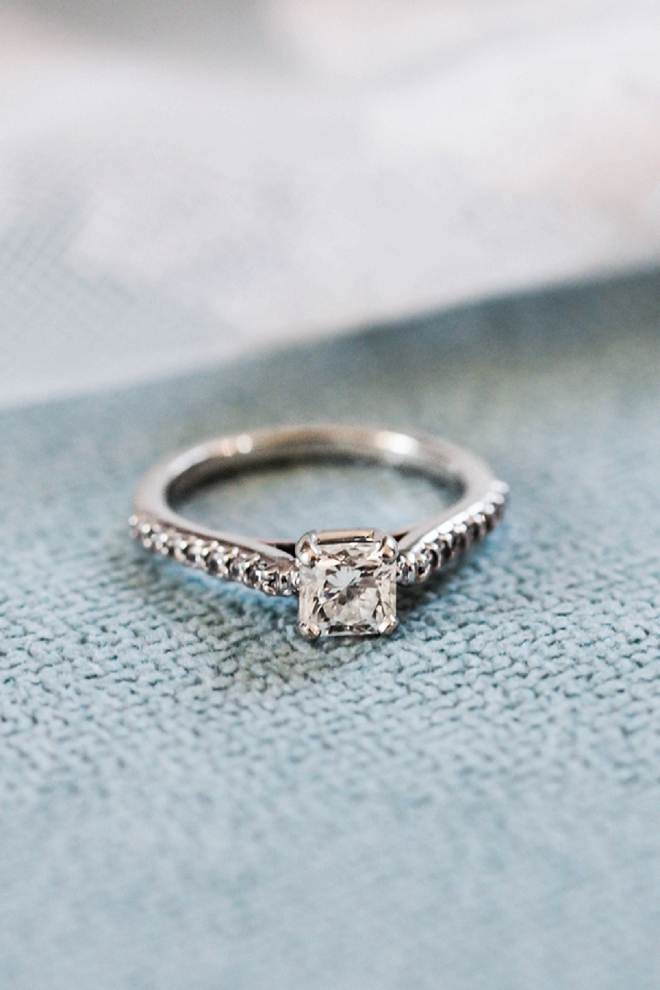In LOVE with this super sweet snap of the Bride's engagement ring!