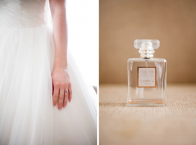 Swooning over this getting ready photo of the Bride and her signature wedding day fragrance!