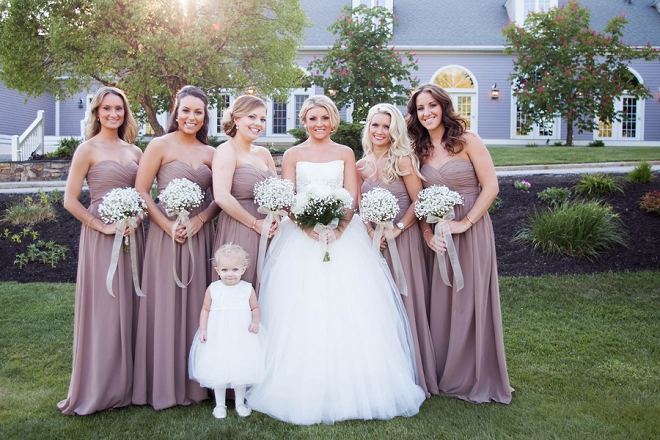 We love this snap of the Bride and her