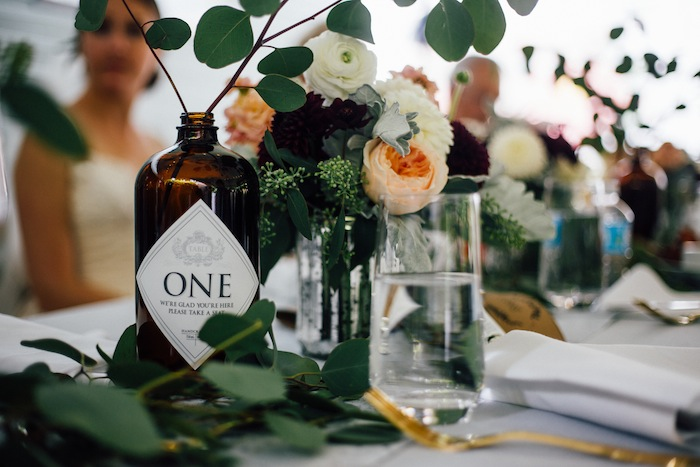 These table numbers were inspired by Hendrick's gin! So cute AND there is a free printable.