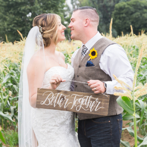 We're crushing on this darling fall wedding!