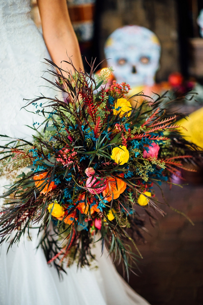 We can't get over this stunning bouquet at this styled shoot!