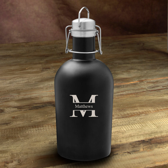 We're loving this customized beer growler gift idea from our etsy round up!