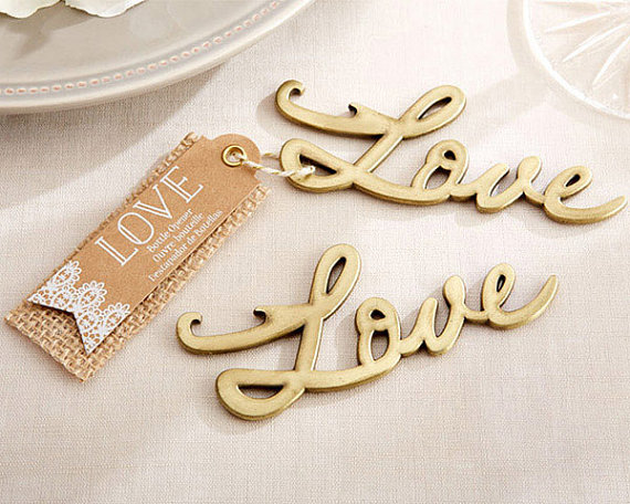 We LOVE this LOVE bottle opener! Grab one as a gift for your favorite couple!