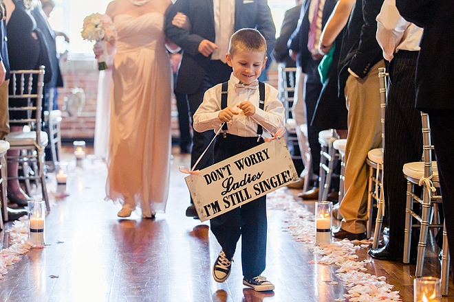 How darling is this ring bearers ceremony sign!