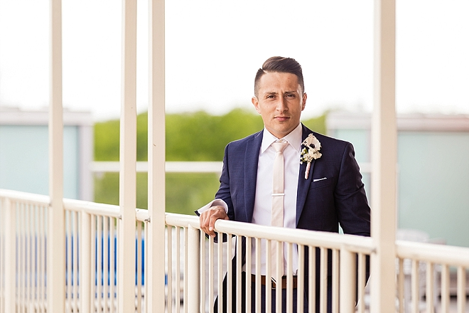 The handsome Groom waiting for his Bride before their first look!