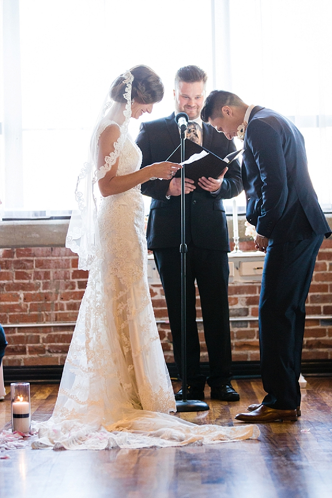 We're swooning over this couple's romantic ceremony!