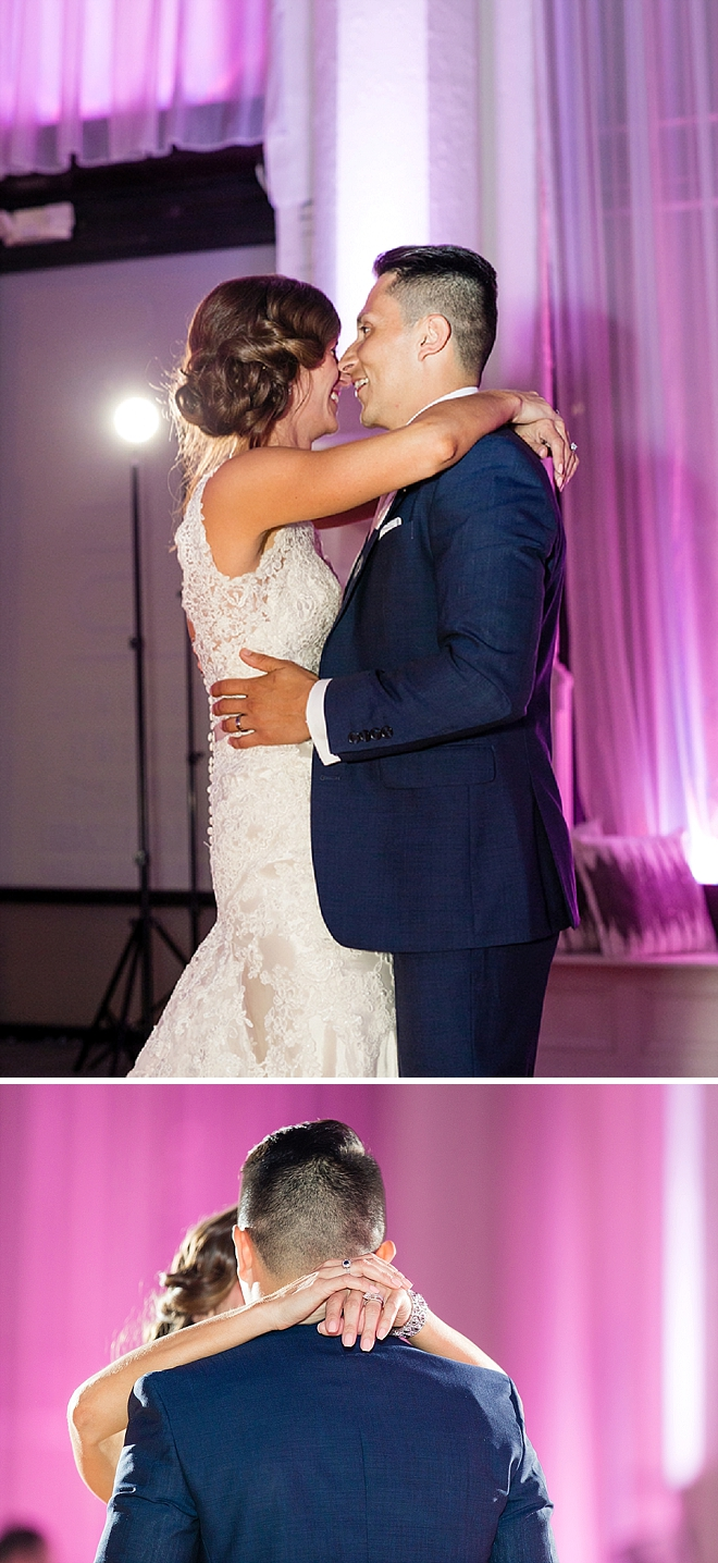 Super sweet first dance as Mr. and Mrs!