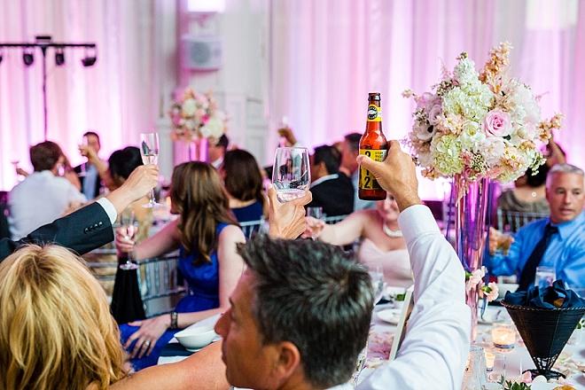 Such a fun wedding reception!