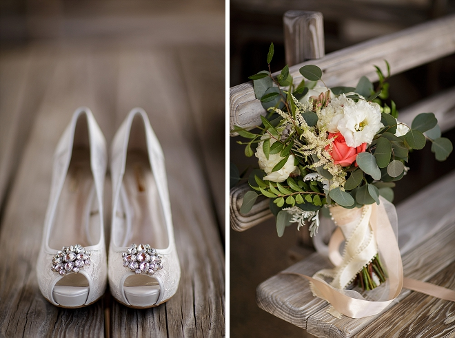 The Bride's darling details are super gorgeous at this lakeside wedding!