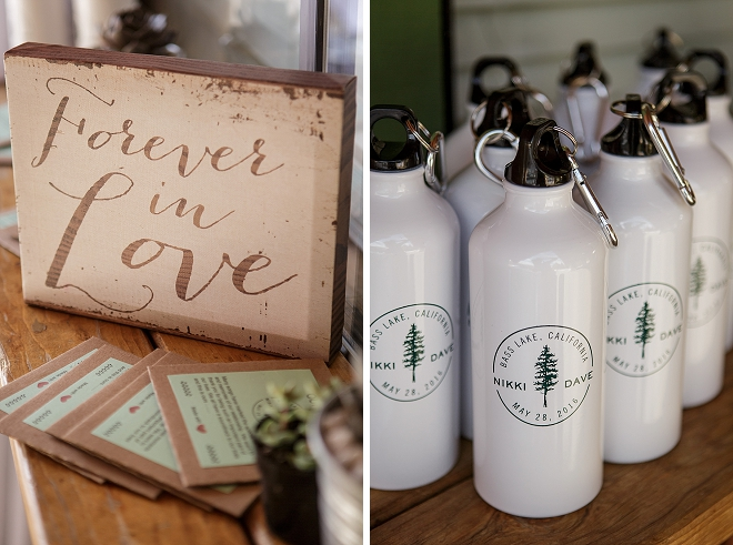 We're obsessed with this couple's darling wedding party welcome kits!