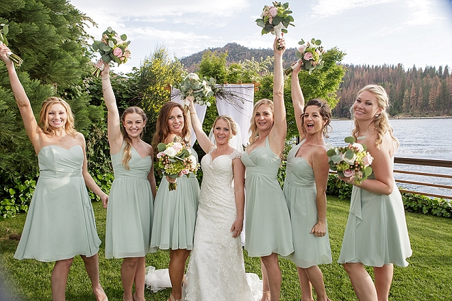 The beautiful Bride and her Bridesmaid's before the ceremony!