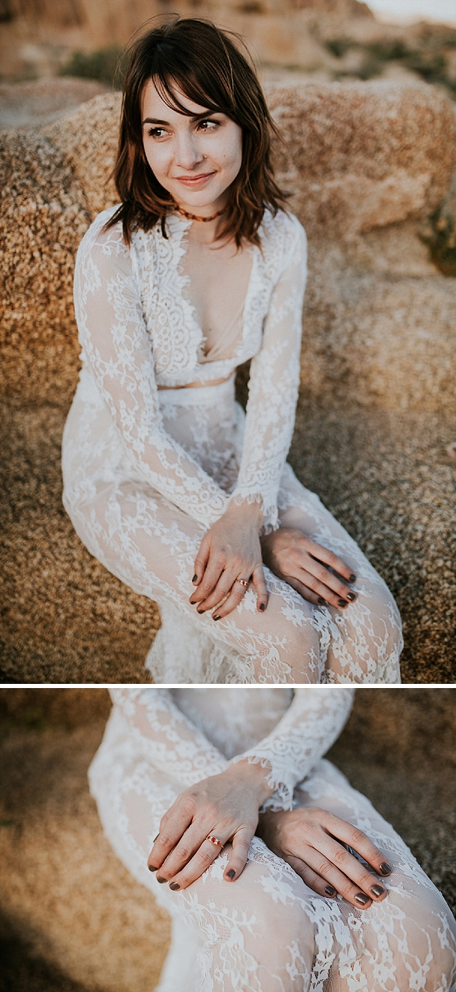 How stunning is this Bride at her boho-chic engagement session!