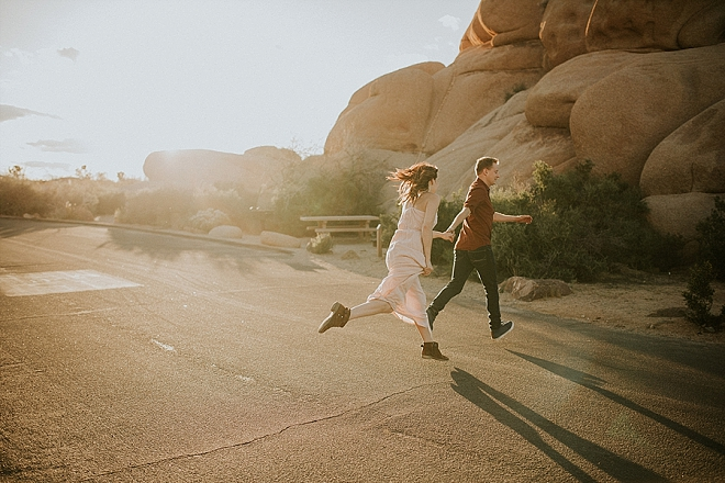 We're swooning over this super romantic desert engagement!