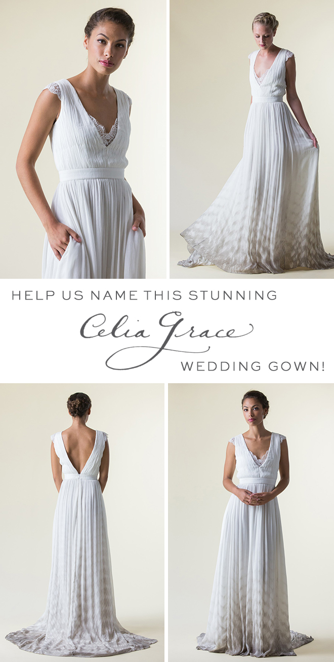 Help us name this stunning Celia Grace wedding gown!
