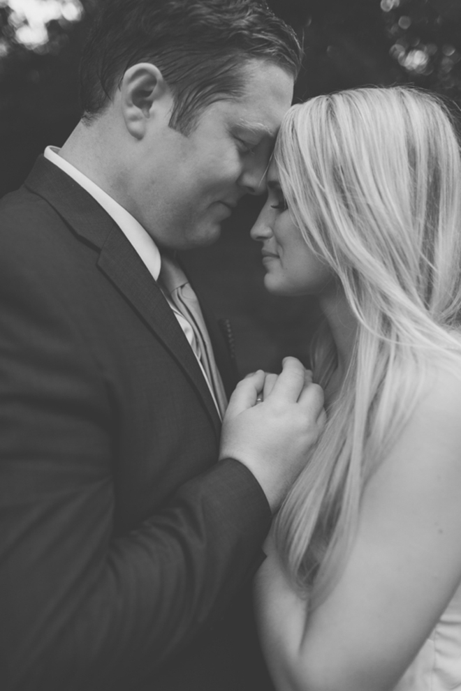 Stunning shot of the bride and groom by Leslie West Photography