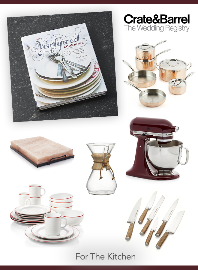 Our favorite Crate and Barrel wedding registry picks for the kitchen!