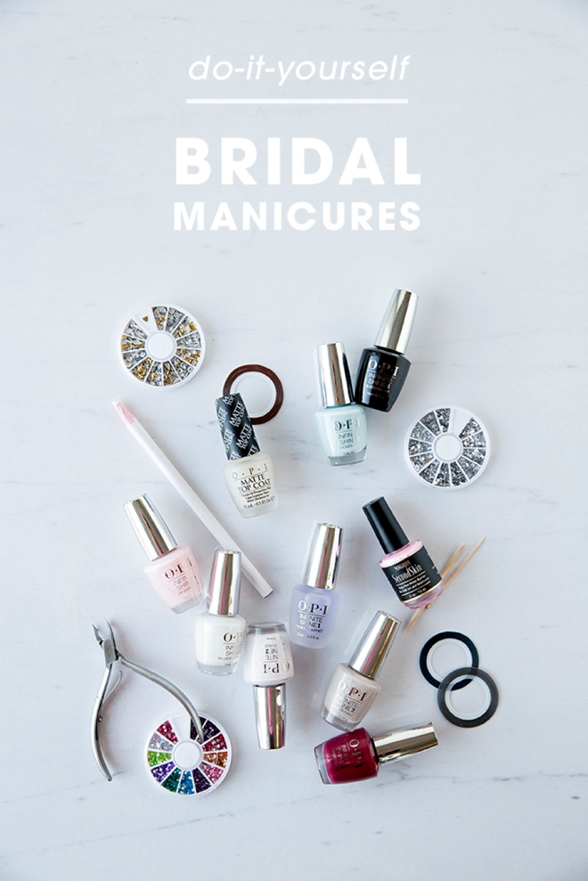 DIY your own bridal manicure, we'll show you how!