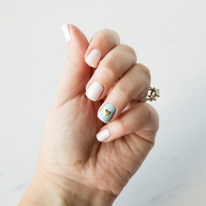 Learn how to paint your own special something blue for your bridal manicure!