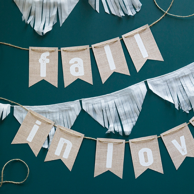 picture relating to Printable Burlap Paper named Test Out This Darling, Absolutely free Printable Burlap Alphabet Banner!