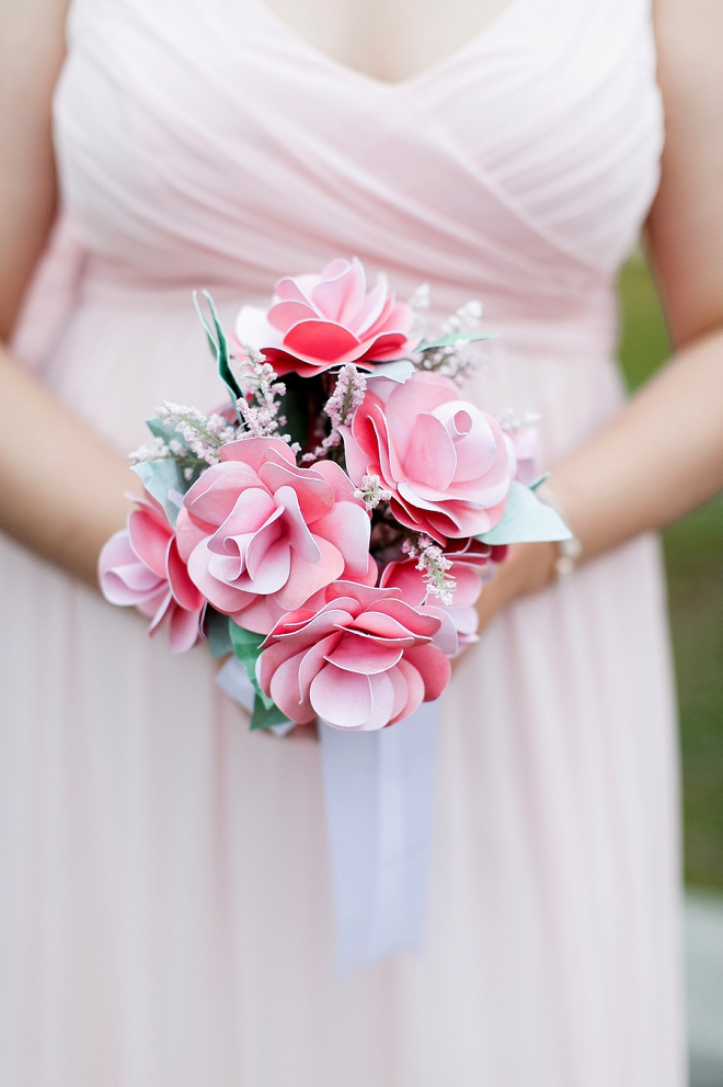 Can you believe the Bride DIY'd all of the fake flowers at her wedding?! Amazing!