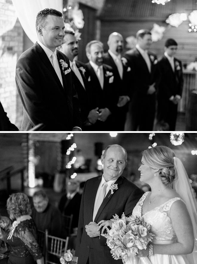 Such a sweet snap of the Bride and Groom walking down the aisle!