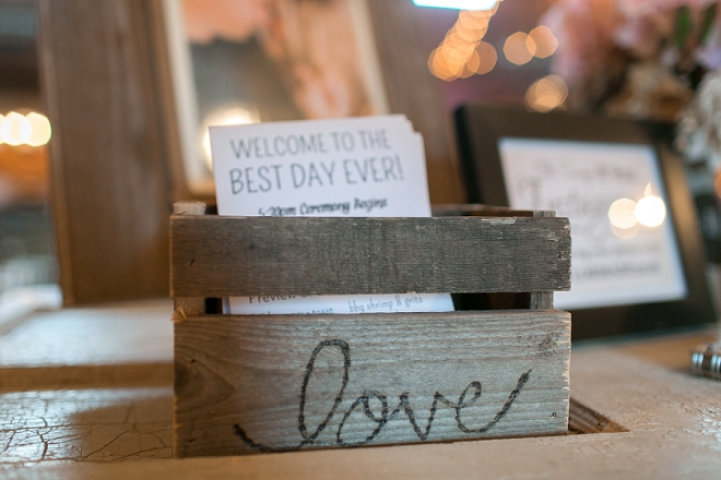 We love the DIY'd programs at this stunning rustic wedding!