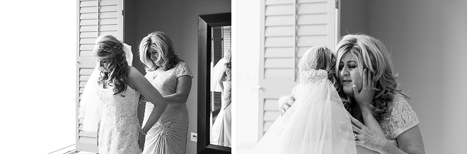 Such a sweet moment between the Bride and her Mother!