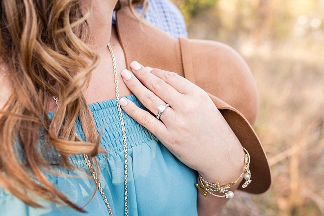 Loving this stunning ring shot and this romantic engagement session!