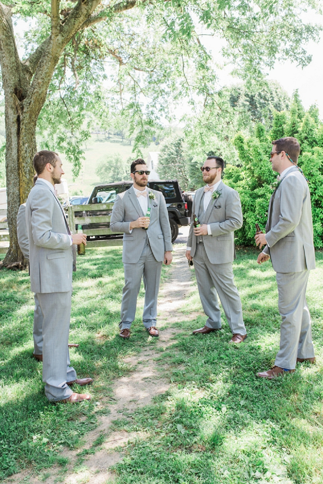 Love this shot of the guys waiting for the ceremony!