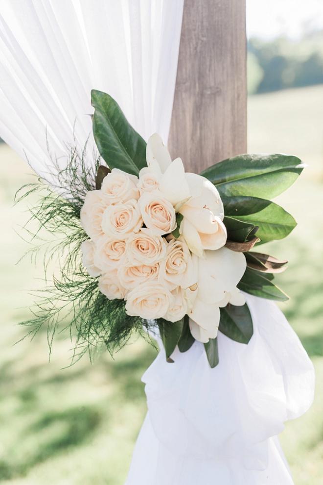 Gorgeous floral details all DIY'd by the Bride!