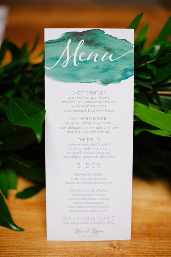 We're in LOVE with these stunning handmade menus!