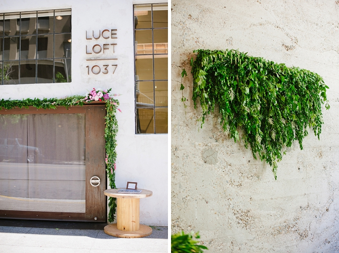 We love this loft wedding venue and stunning greenery!