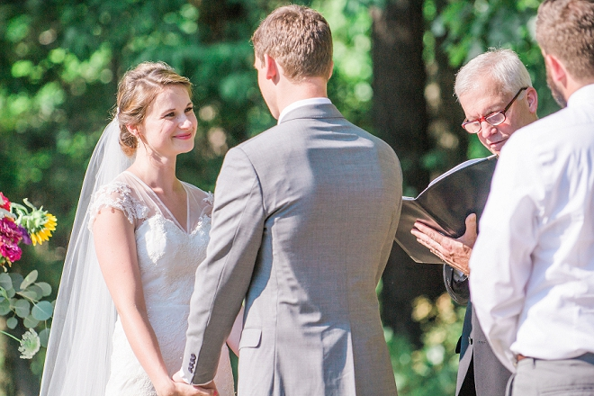 We're crushing on this couple's sweet outdoor ceremony!