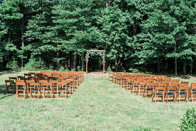 Gorgeous North Carolina ceremony venue for this wedding!
