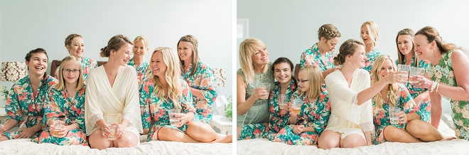 We love these fun snaps of the Bride and her Bridesmaids getting ready!