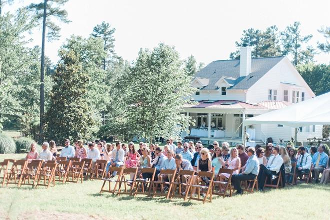 We love this backyard North Carolina wedding!