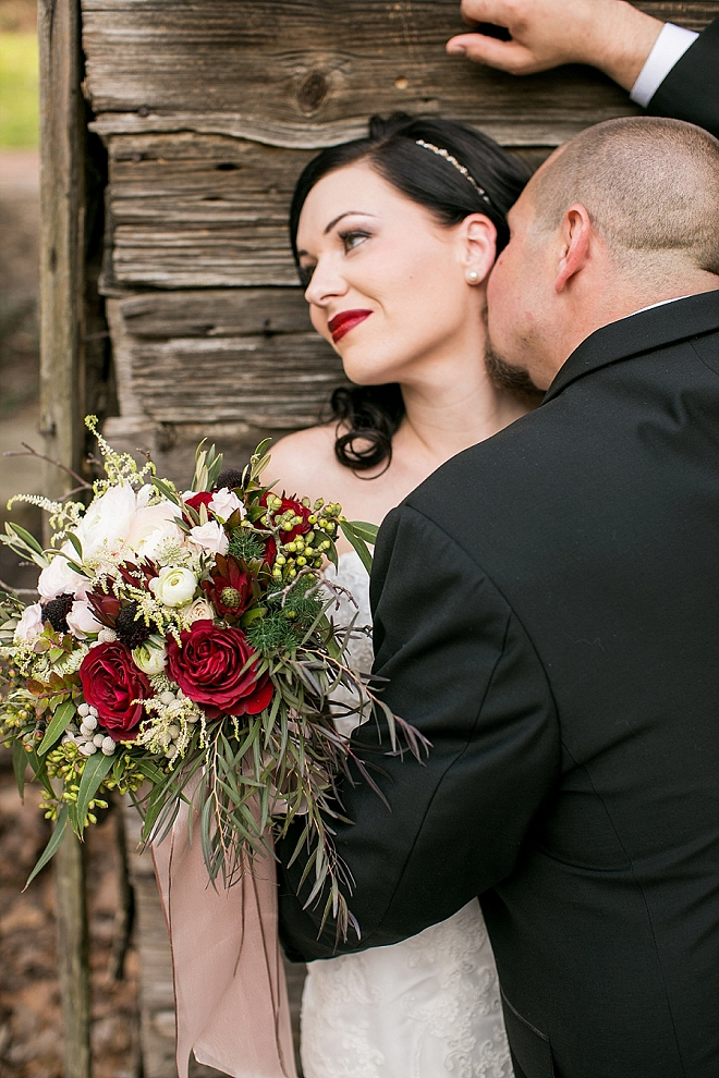 We're crushing on this stunning styled Snow White wedding!