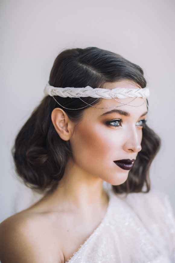 Image result for black lipstick bridal