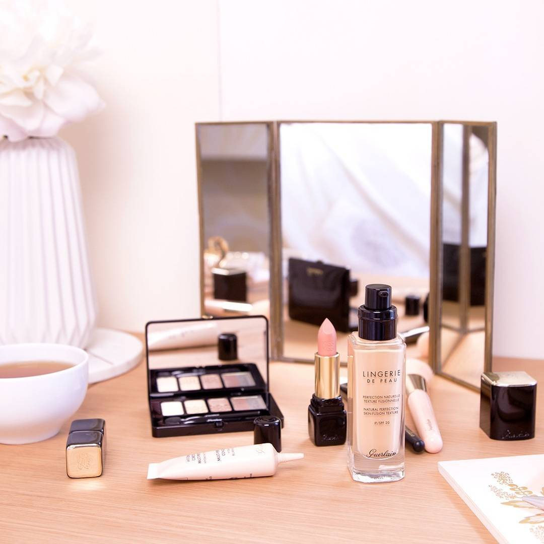 Soft bridal beauty products.