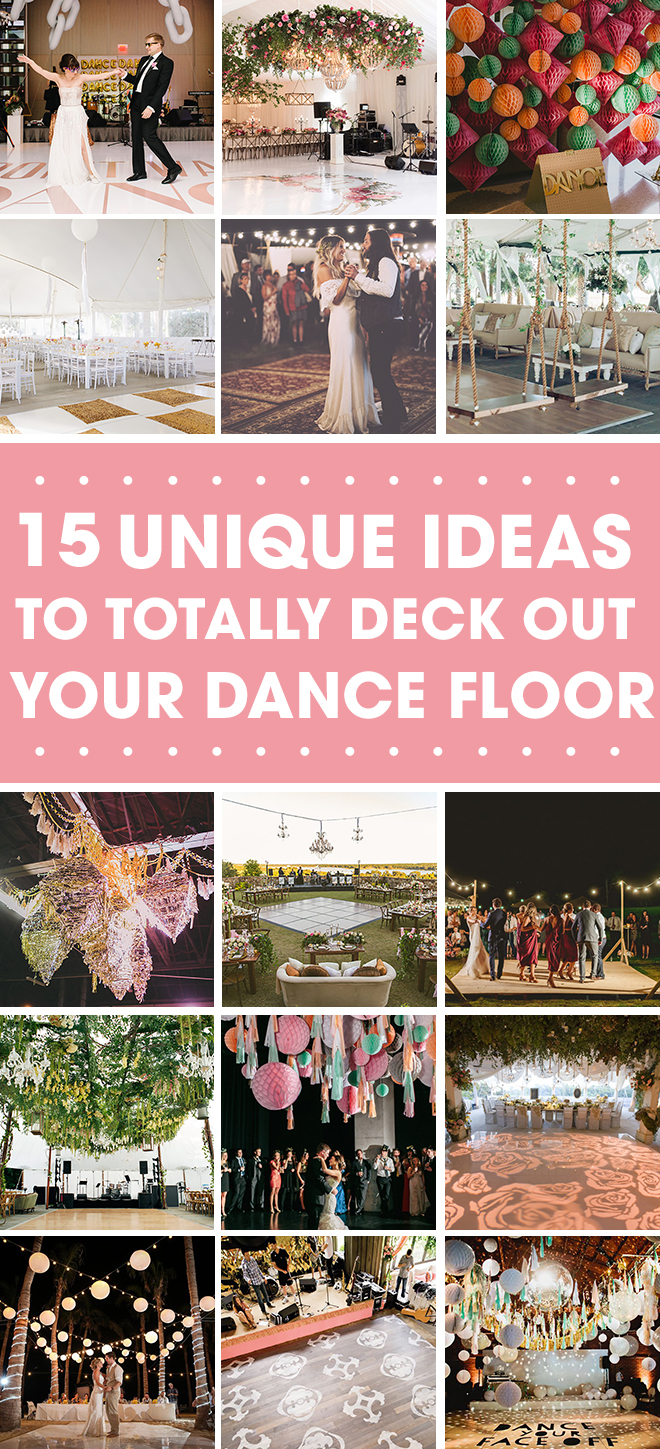 15 amazing ideas to deck out your dance floor!