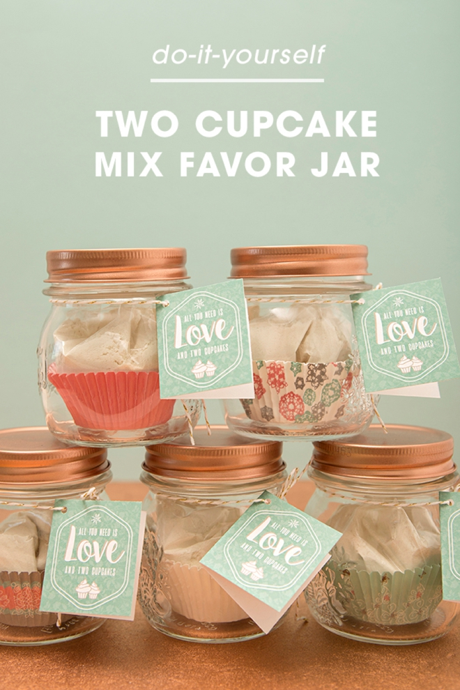 You have to see this 2 cupcake mix favor jar wedding or holiday solutioingenieria Choice Image