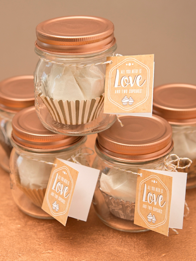 You Have To See This 2 Cupcake Mix Favor Jar