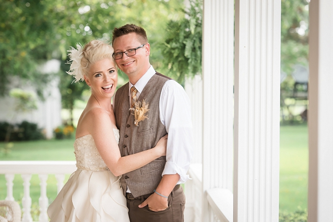 We're loving this gorgeous Mr. and Mrs. and their unique wedding!